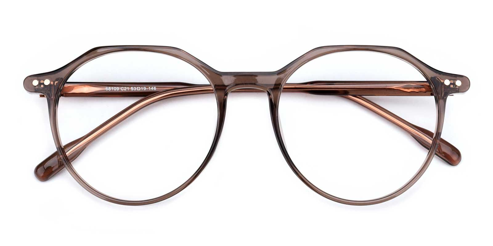 Cappuccino-Brown-Round-TR-Eyeglasses-detail
