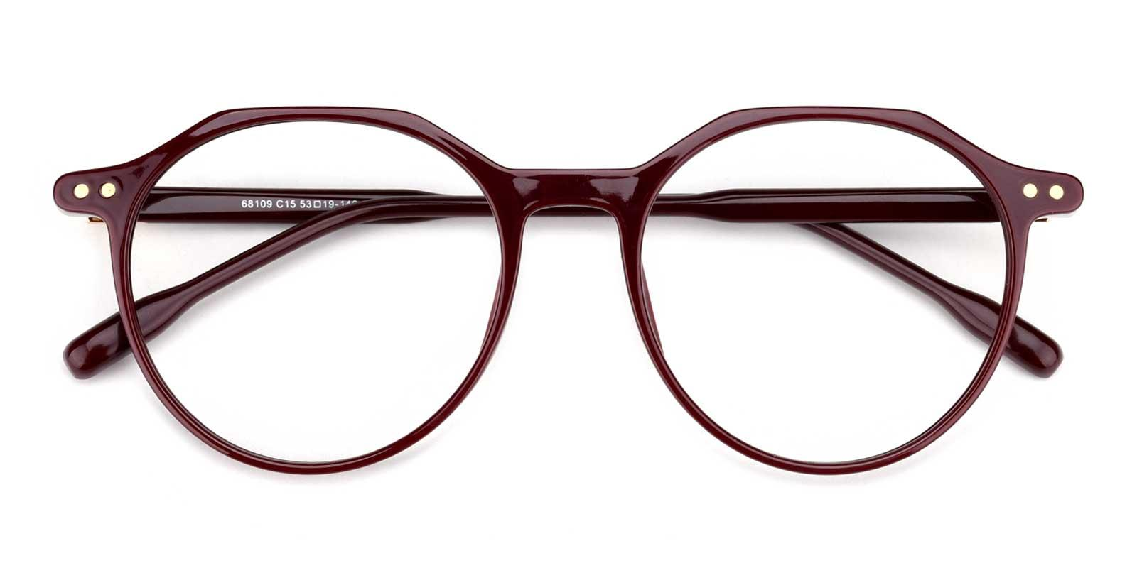 Cappuccino-Red-Round-TR-Eyeglasses-detail