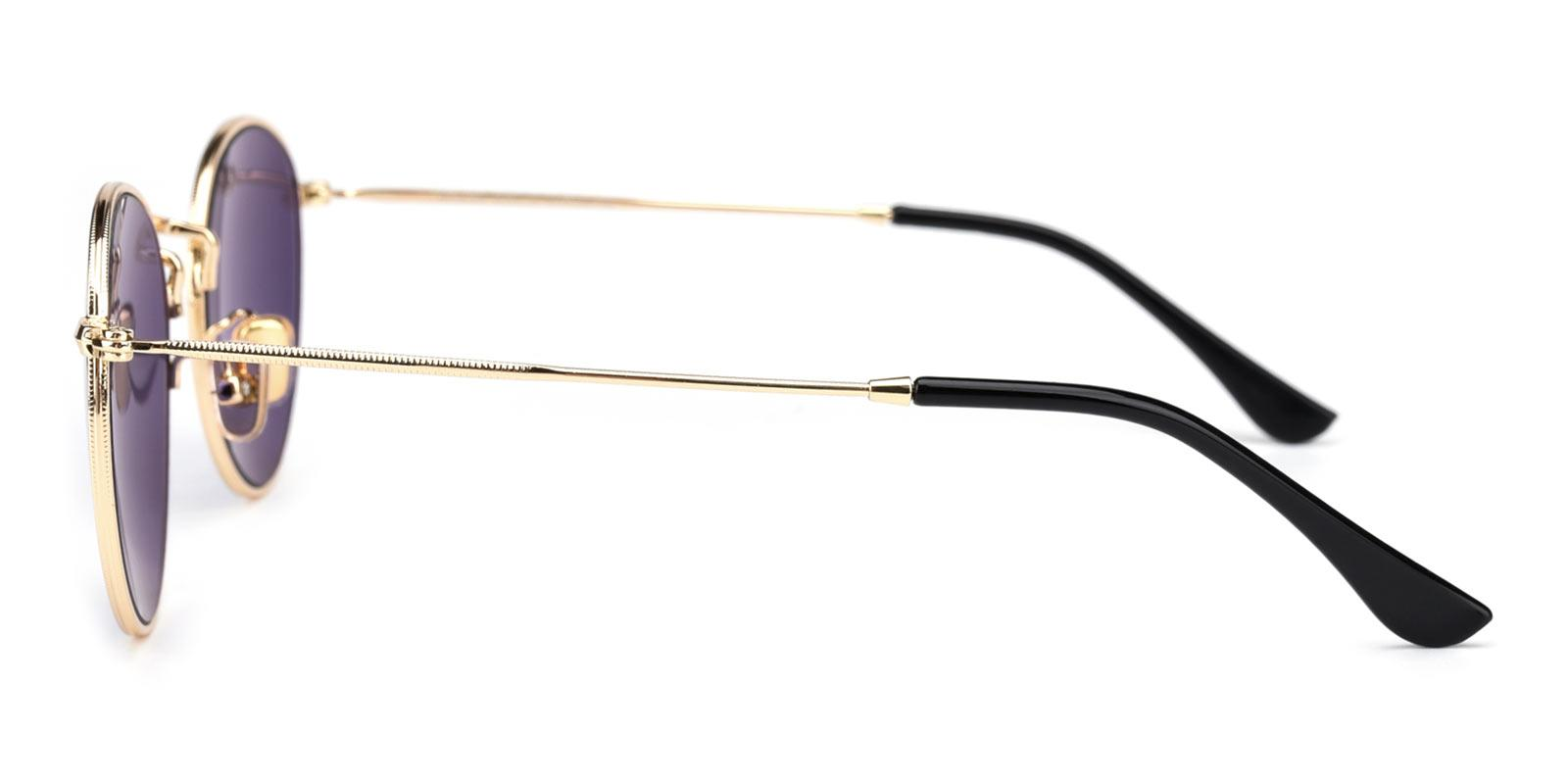 Canary-Gold-Round-Metal-Sunglasses-detail