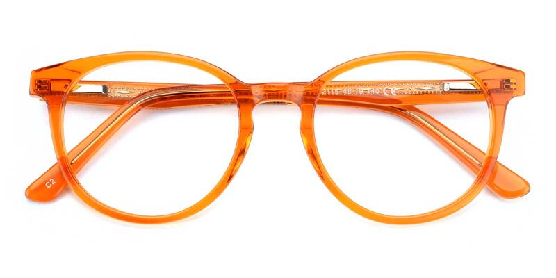 Patti-Orange-Eyeglasses