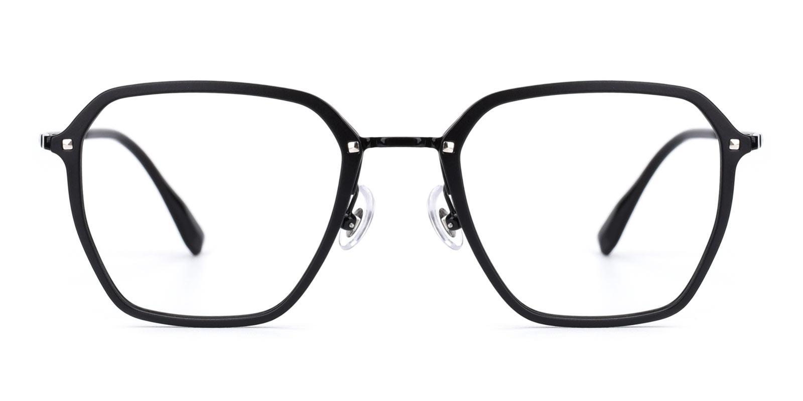 Navigator-Black-Rectangle-Titanium-Eyeglasses-detail