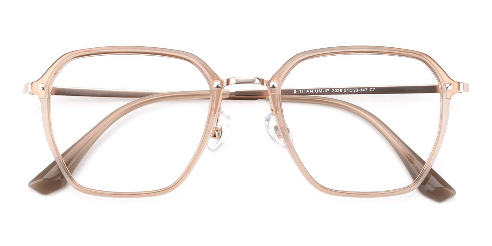 Navigator-Brown-Rectangle-Titanium-Eyeglasses-detail