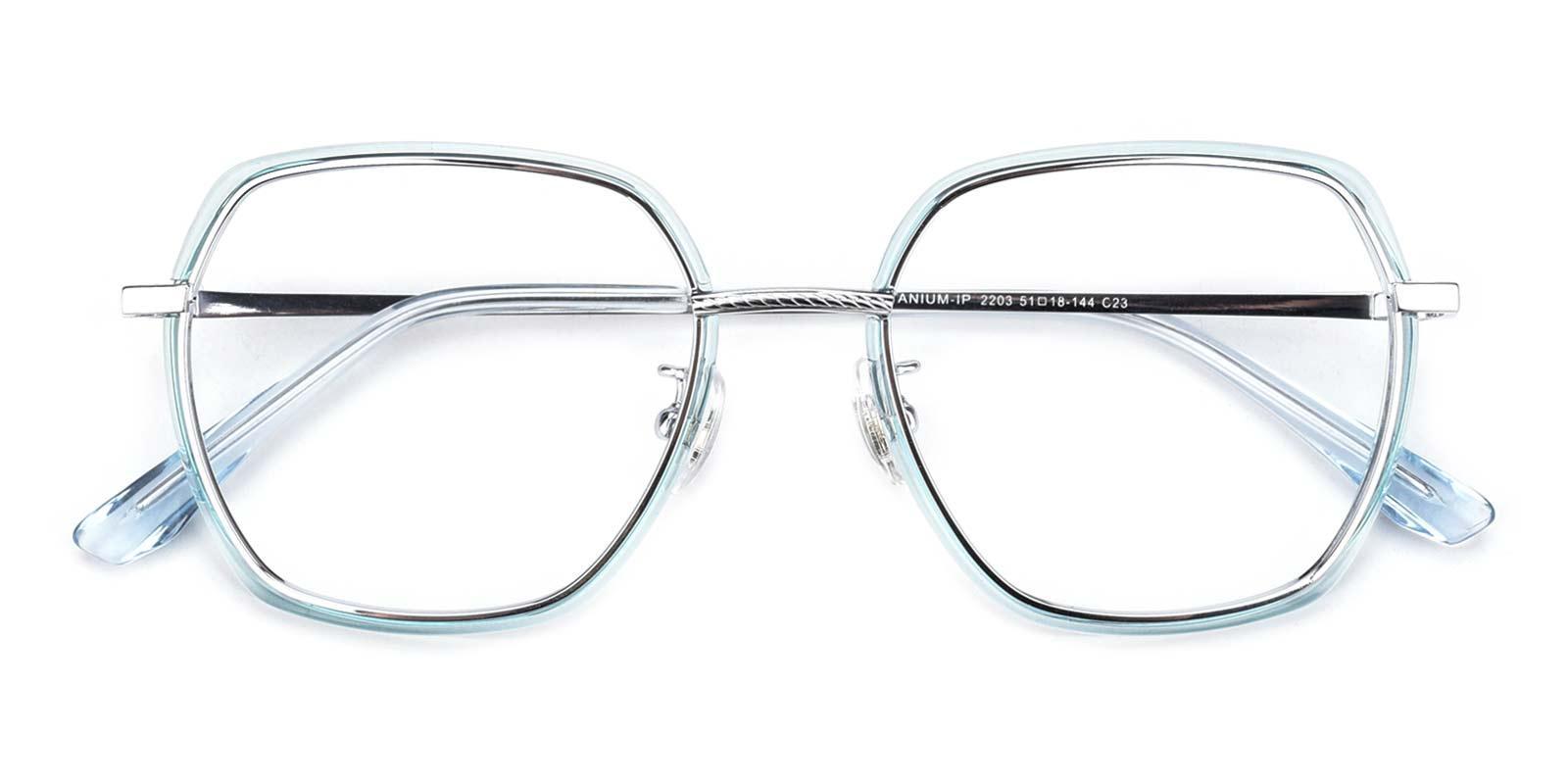 Leo-Blue-Square-Titanium-Eyeglasses-detail