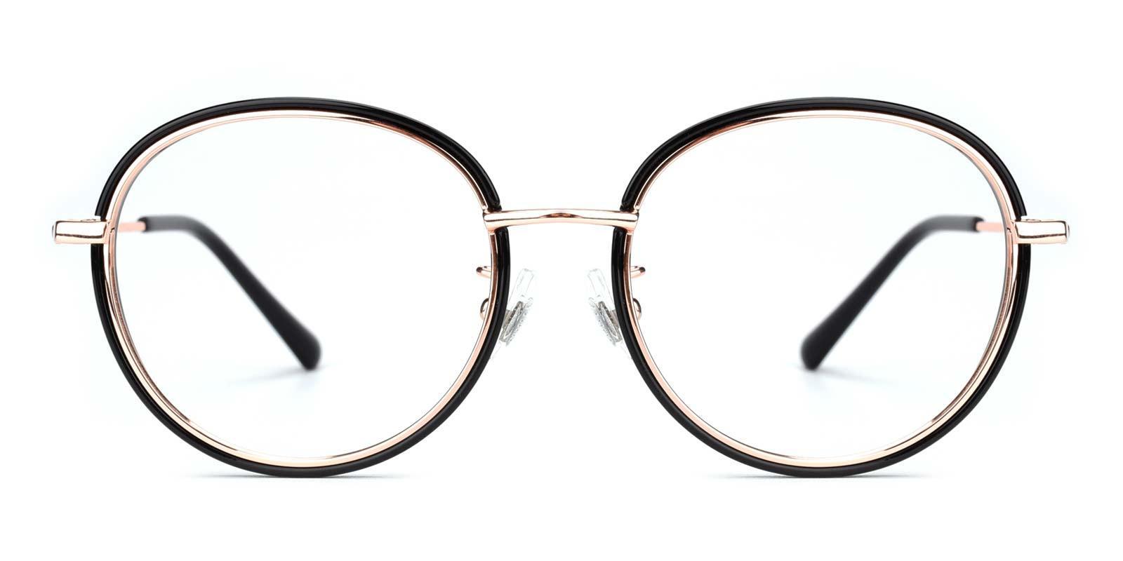 Soymilk-Black-Round-Titanium-Eyeglasses-detail