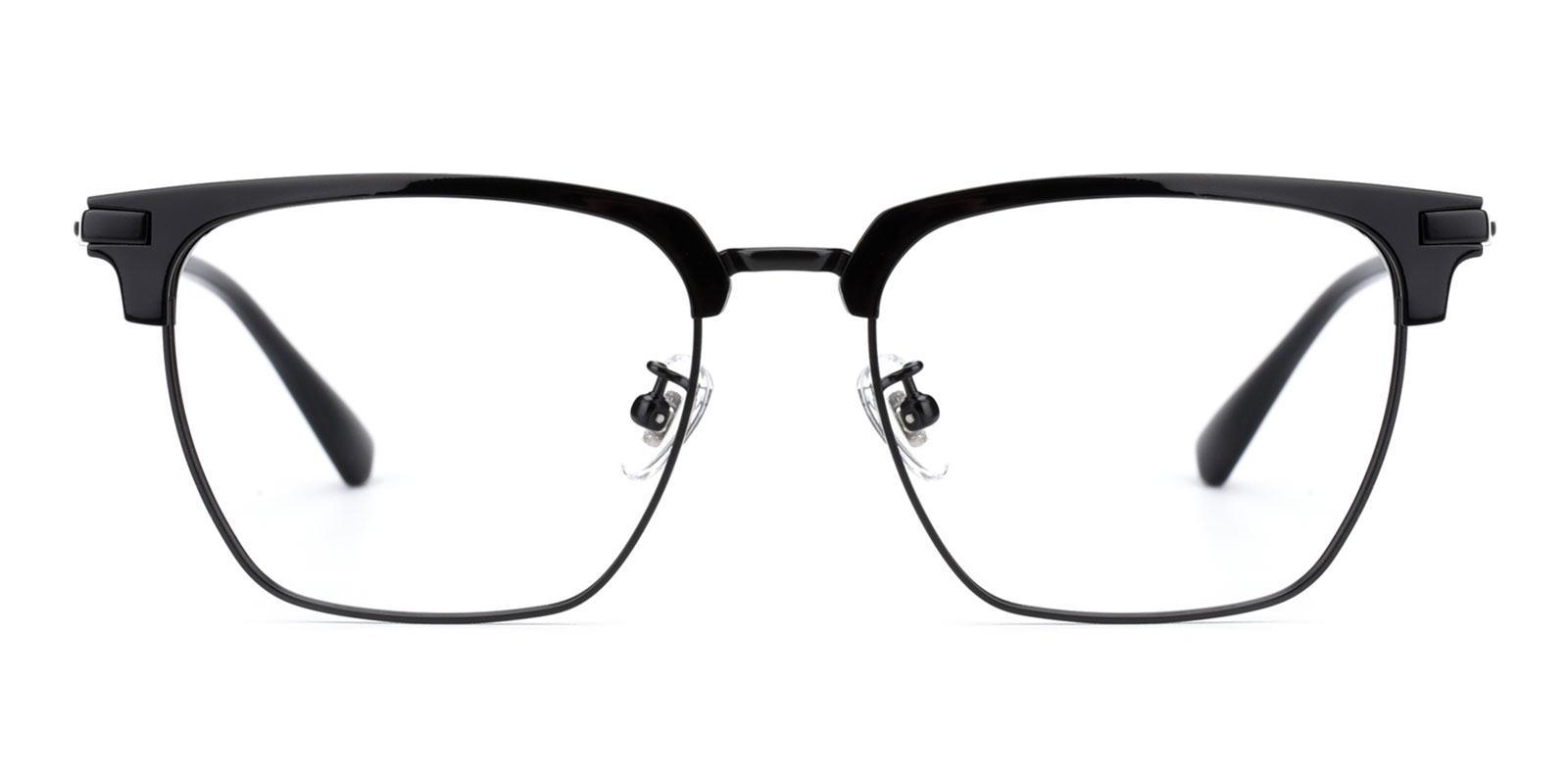Signage-Black-Browline / Rectangle-Titanium-Eyeglasses-detail