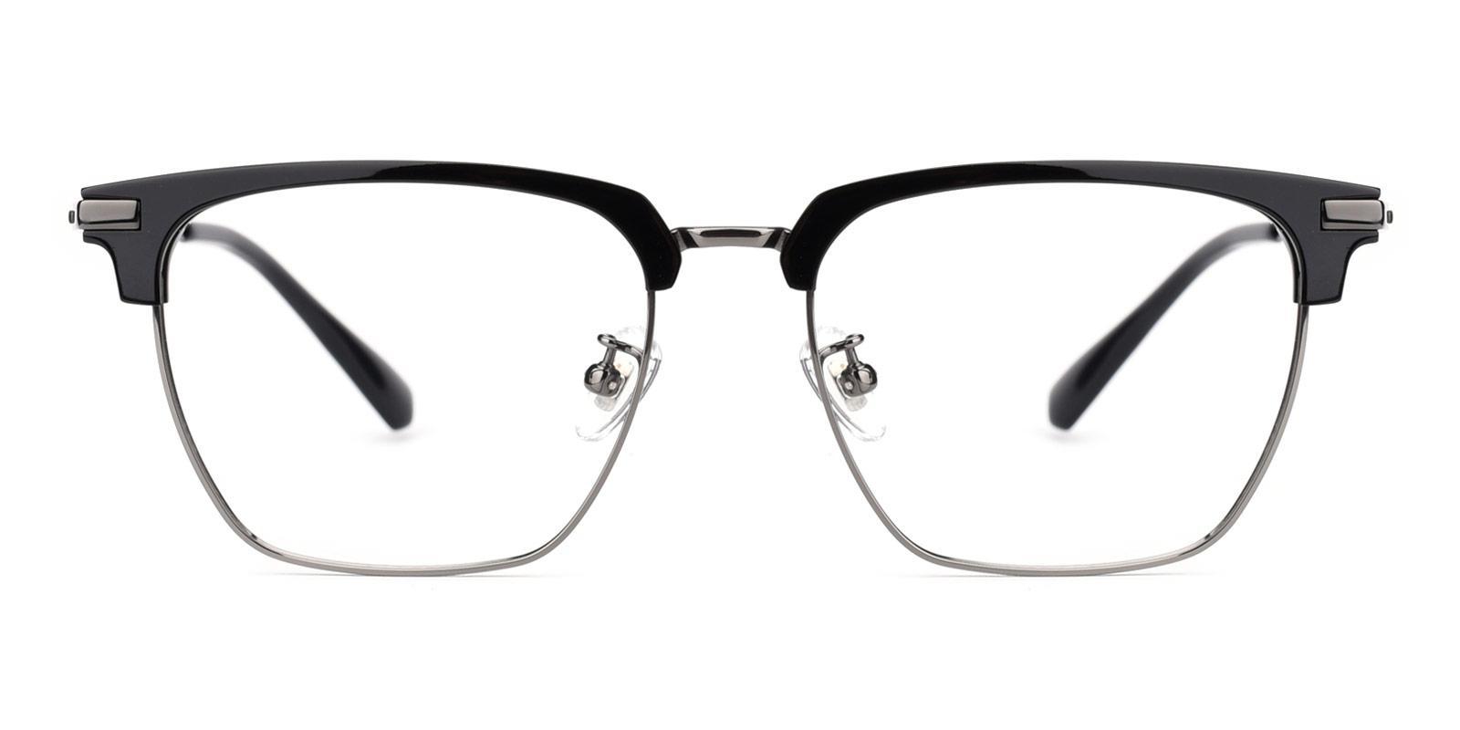 Signage-Gun-Browline / Rectangle-Titanium-Eyeglasses-detail