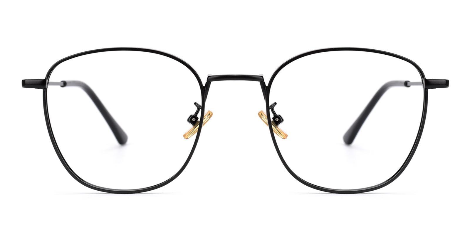 Richard-Black-Square-Metal-Eyeglasses-detail