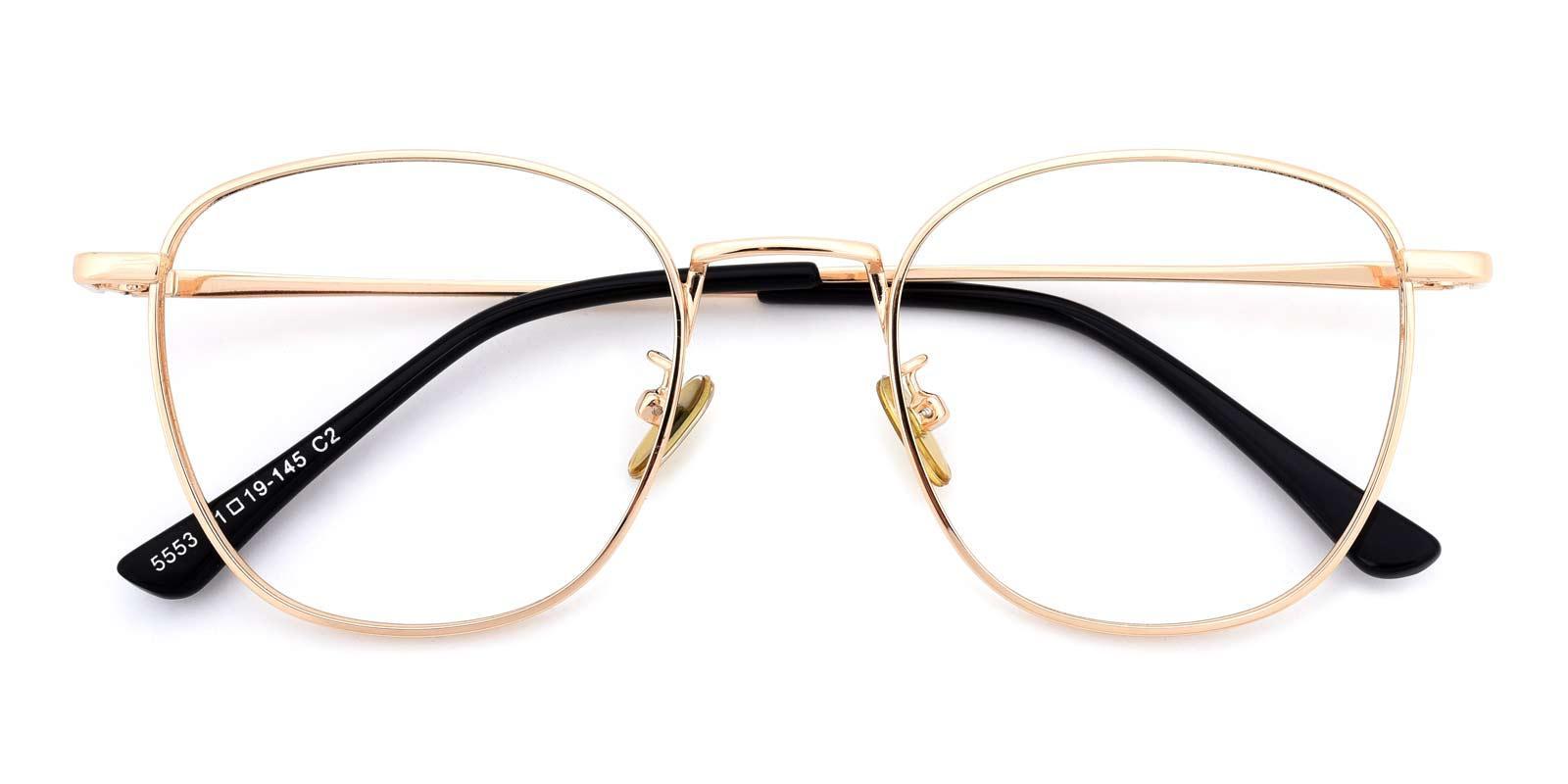 Richard-Gold-Square-Metal-Eyeglasses-detail