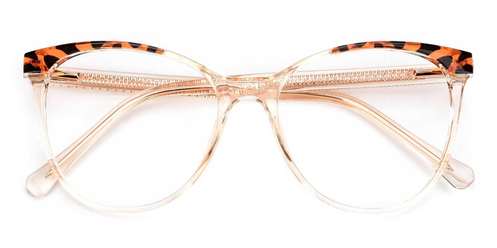 Patsy-Orange-Cat / Round-TR-Eyeglasses-detail