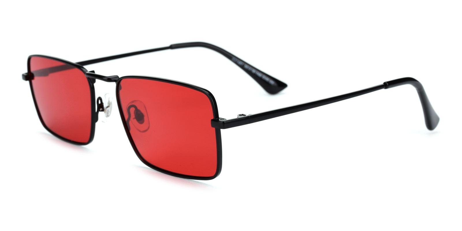 Phoebe-Red-Rectangle-Metal-Sunglasses-detail