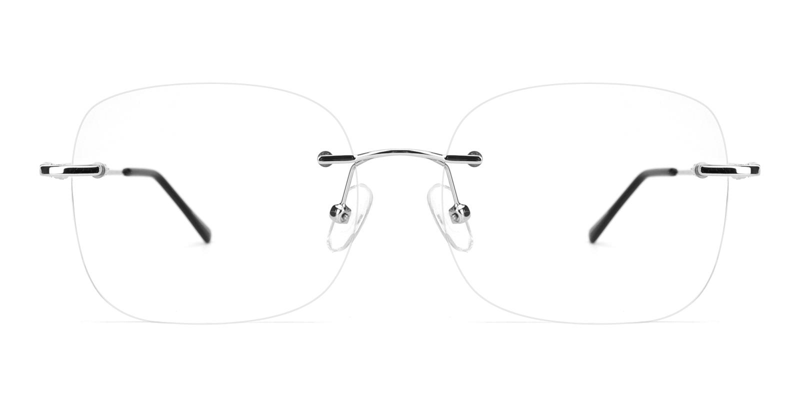 Invisibles-Silver-Rectangle-Metal-Eyeglasses-detail