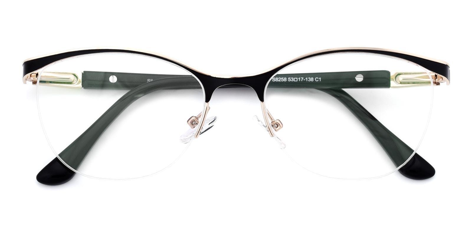 Alexis-Black-Cat-Metal-Eyeglasses-detail