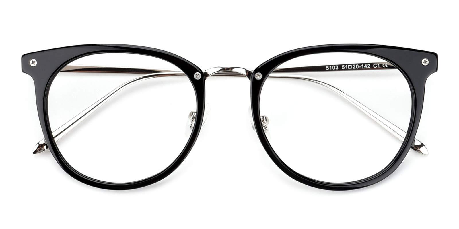 Nina-Black-Round-TR-Eyeglasses-detail
