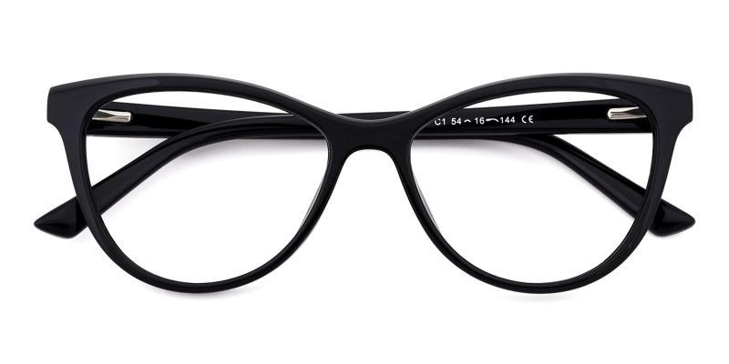 Diana-Black-Eyeglasses
