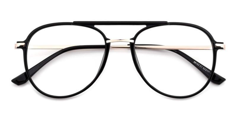 Michelle-Black-Eyeglasses