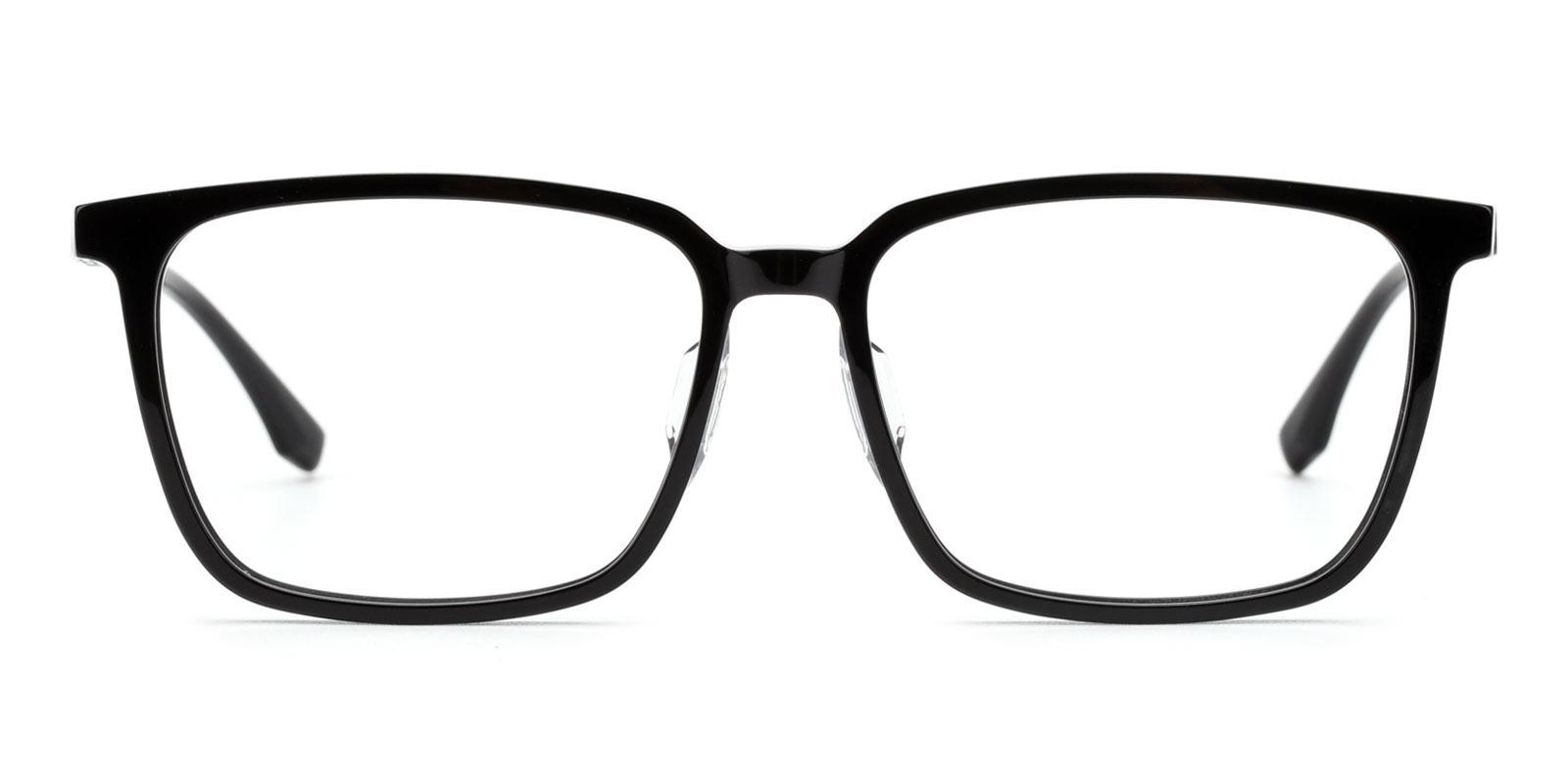 Modesty-Black-Rectangle-Titanium-Eyeglasses-detail