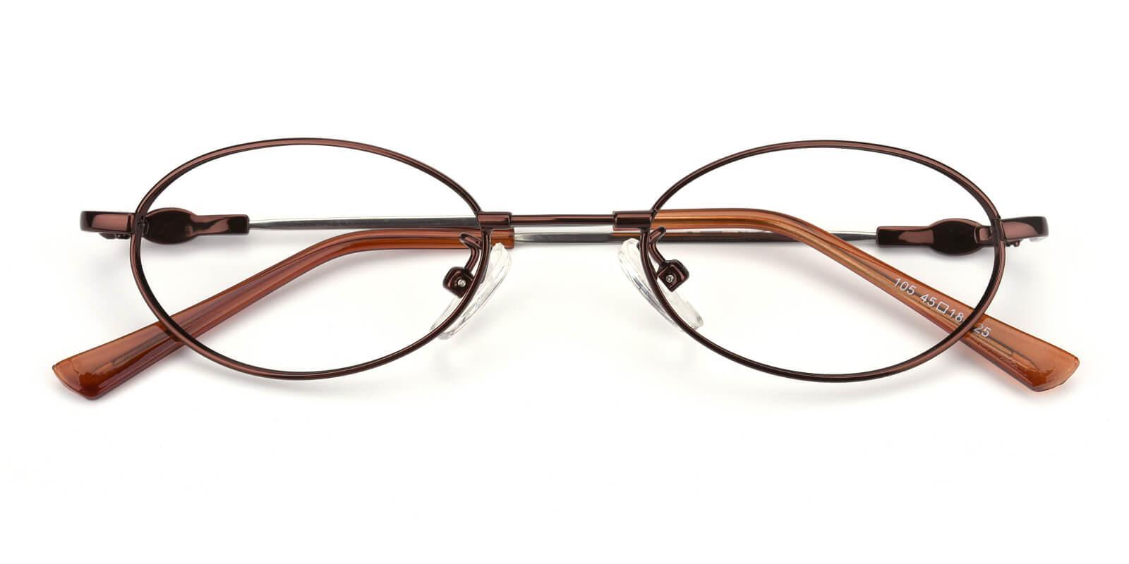 Mikestar-Brown-Oval-Titanium-Eyeglasses-detail
