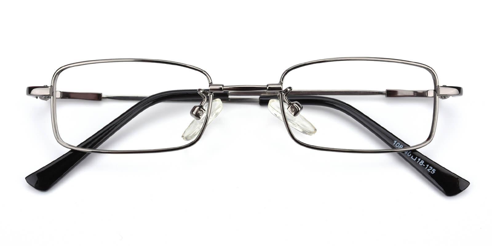 Lanscripe-Gun-Rectangle-Titanium-Eyeglasses-detail
