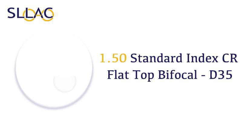 1.50 Standard Index Flat Top Bifocal - D35-Translucent-other