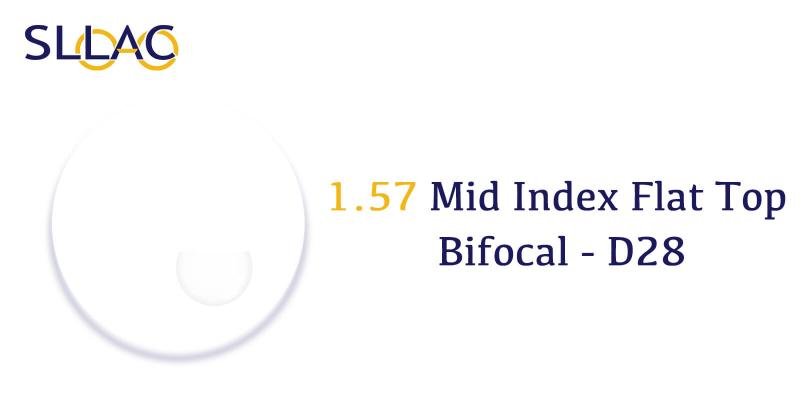 1.57 Standard Index Flat Top Bifocal With Line-Translucent-other