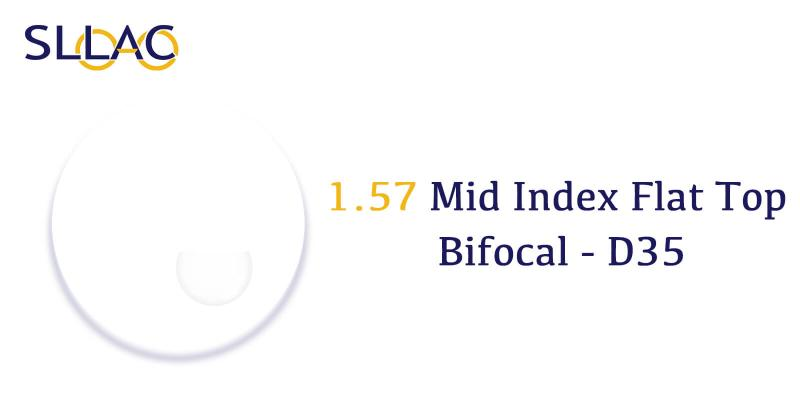 1.57 Standard Index Flat Top Bifocal - D35-Translucent-other