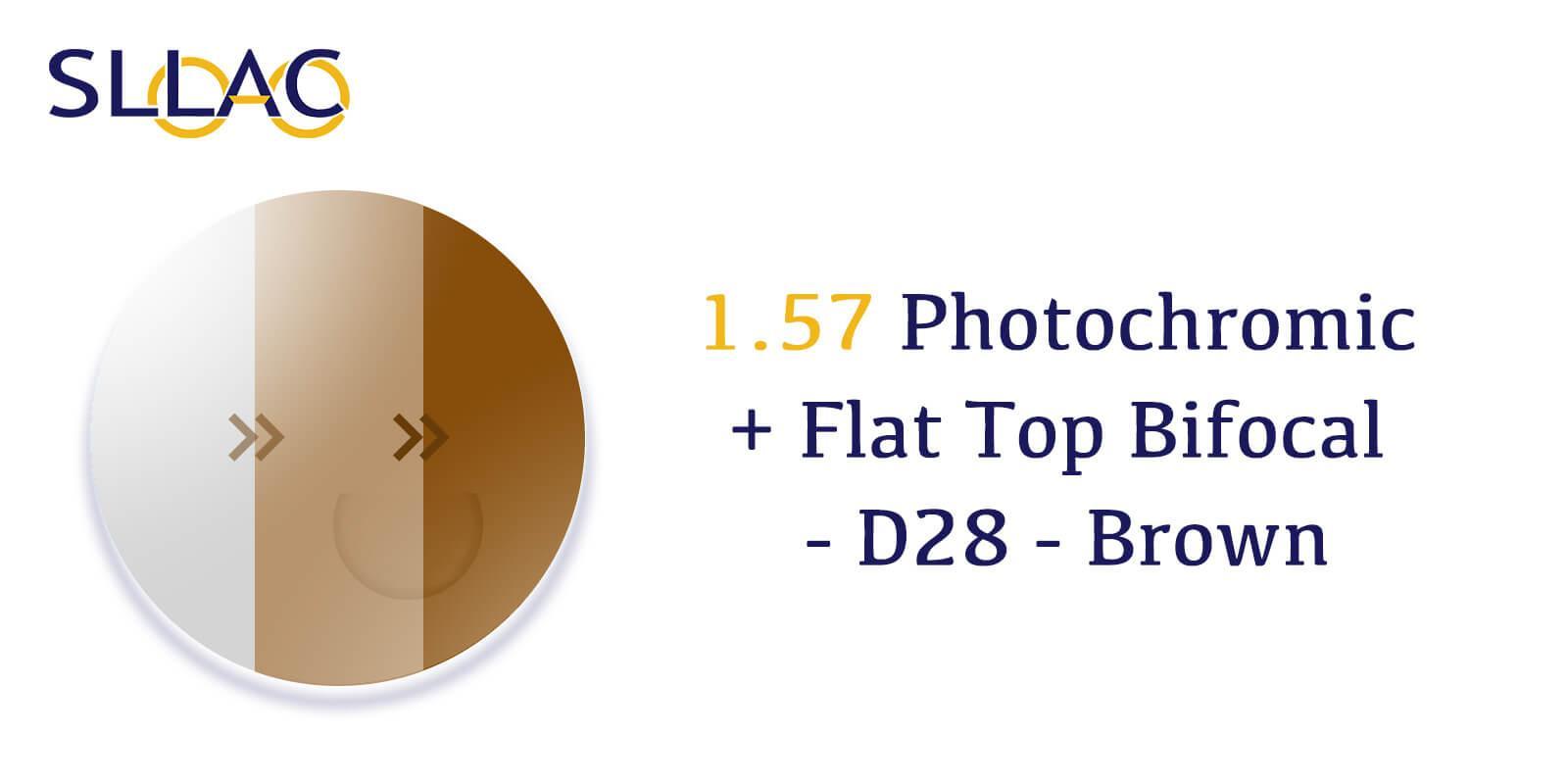 1.57 Photochromic + Flat Top Bifocal With Line- Brown-Brown---Eyeglasses-detail