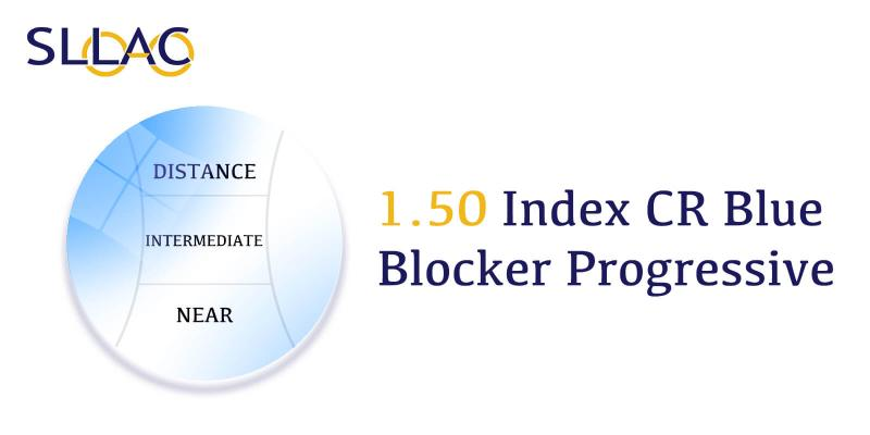 1.50 Digital Free Form Progressive UV+ Blue Blocker-Translucent-other