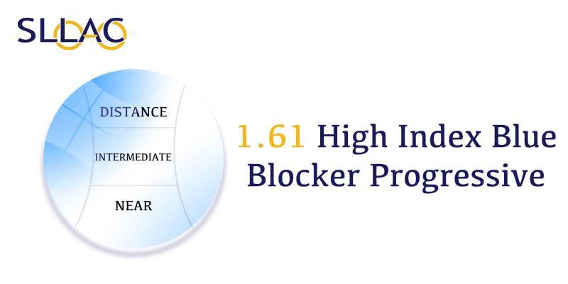 1.61 Digital Free Form Progressive UV+ Blue Blocker-Translucent-other