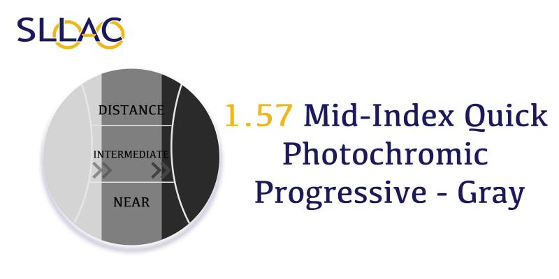 1.57 Quick Photochromic Progressive - Gray-Brown-other