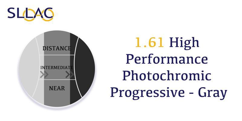 1.61 High Performance Photochromic Digital Free Form Progressive - Gray-Brown-other