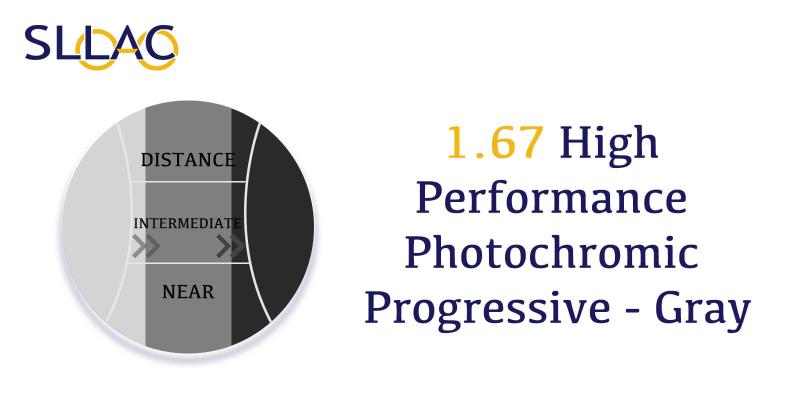 1.74 High Performance Photochromic Digital Free Form Progressive - Gray-Brown-other