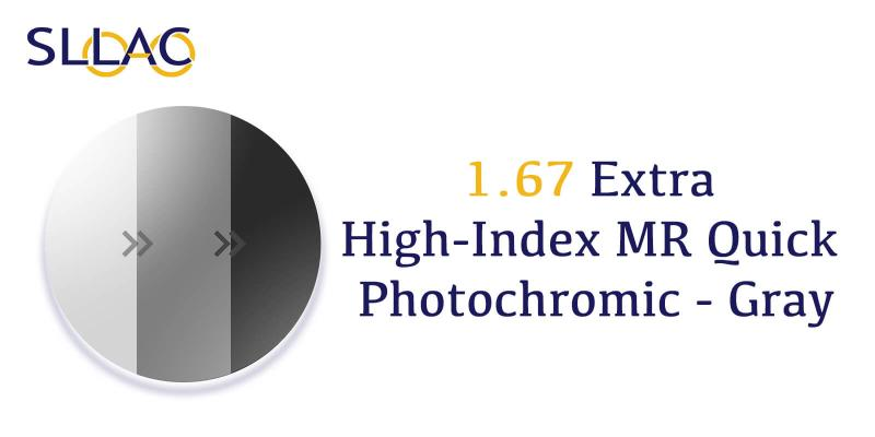1.67 High-Index UV+ Blue Blocker and Photochromic - Gray-Brown-other
