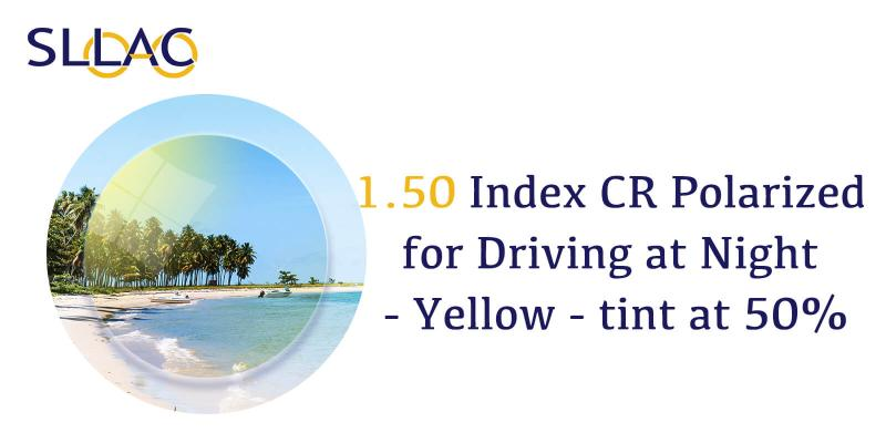 1.50 Polarized for Driving at Night - Yellow - tint as 50%-Yellow-other