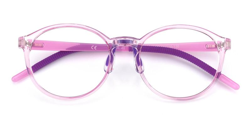 Chigor-Purple-Eyeglasses / Lightweight / NosePads