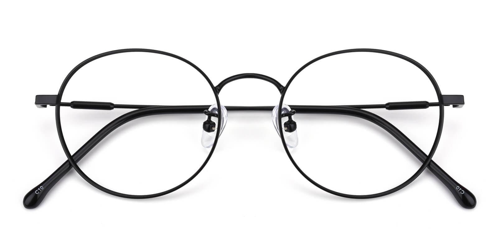 Hibbardr-Black-Round-Metal-Eyeglasses-detail