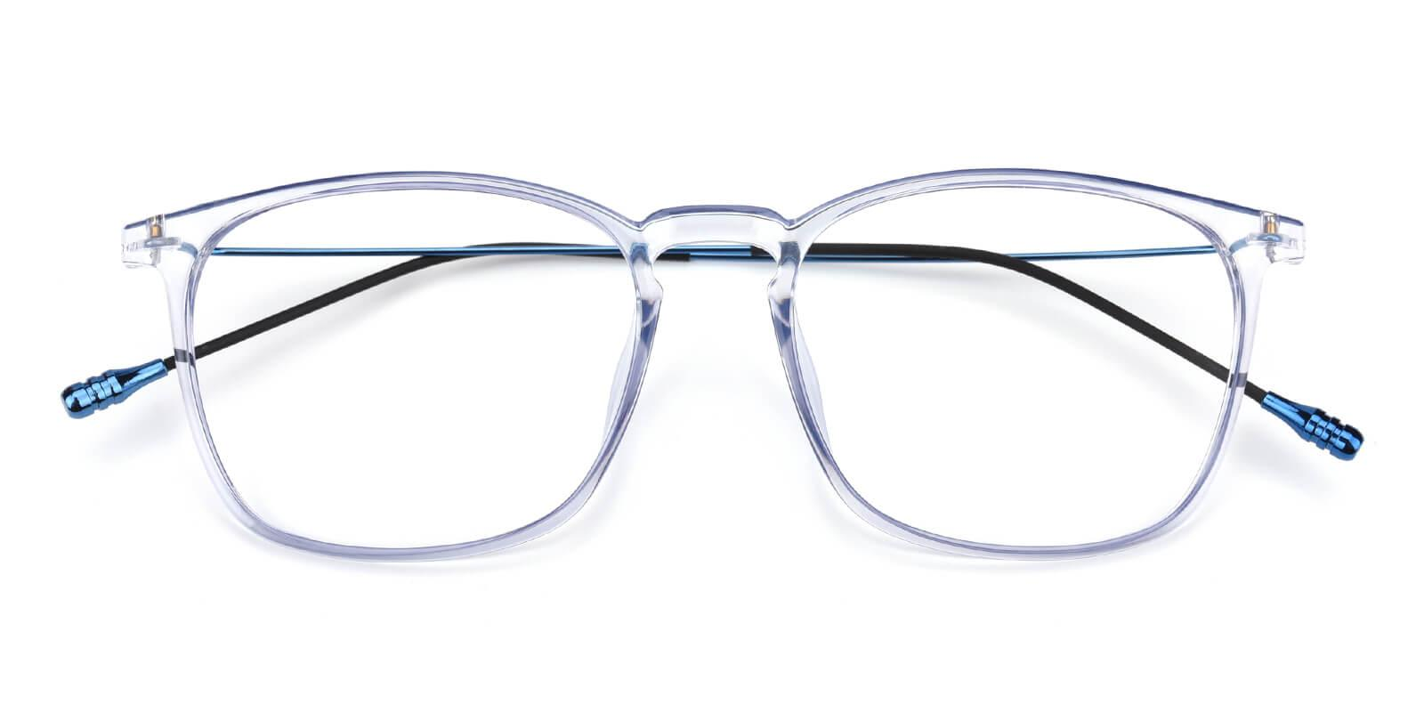 Quauetom-Blue-Square-Metal / TR-Eyeglasses-detail