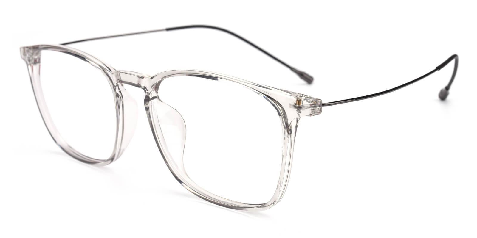 Quauetom-Gray-Square-Metal / TR-Eyeglasses-detail