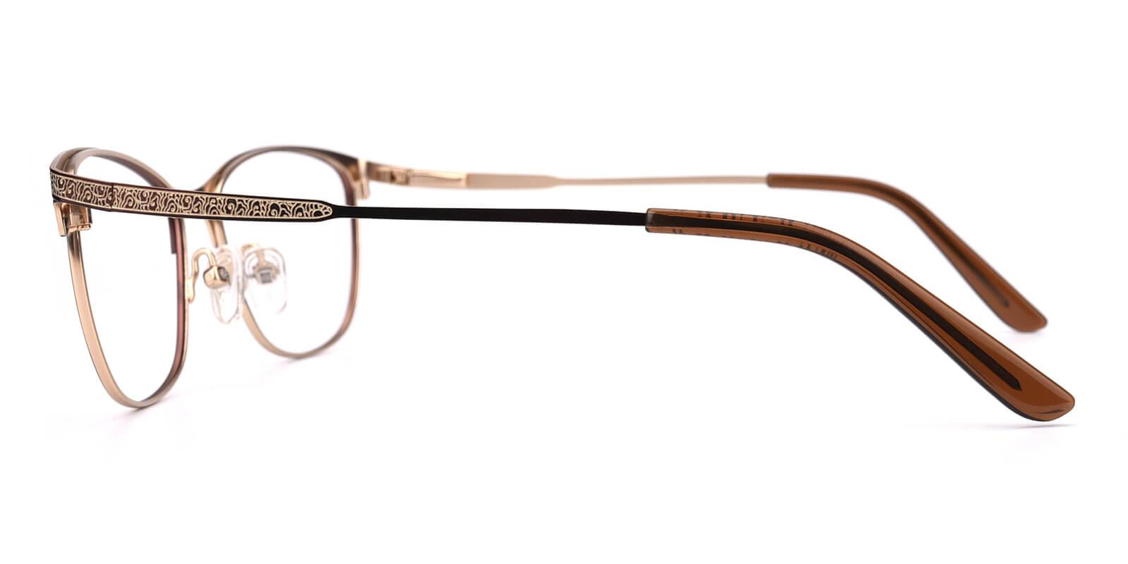Seeta-Brown-Cat-Metal-Eyeglasses-detail