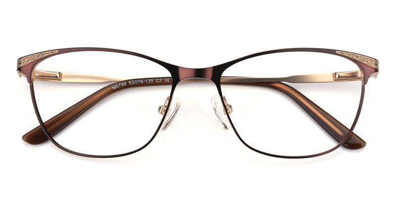 Seeta-Brown-Eyeglasses / Lightweight / NosePads