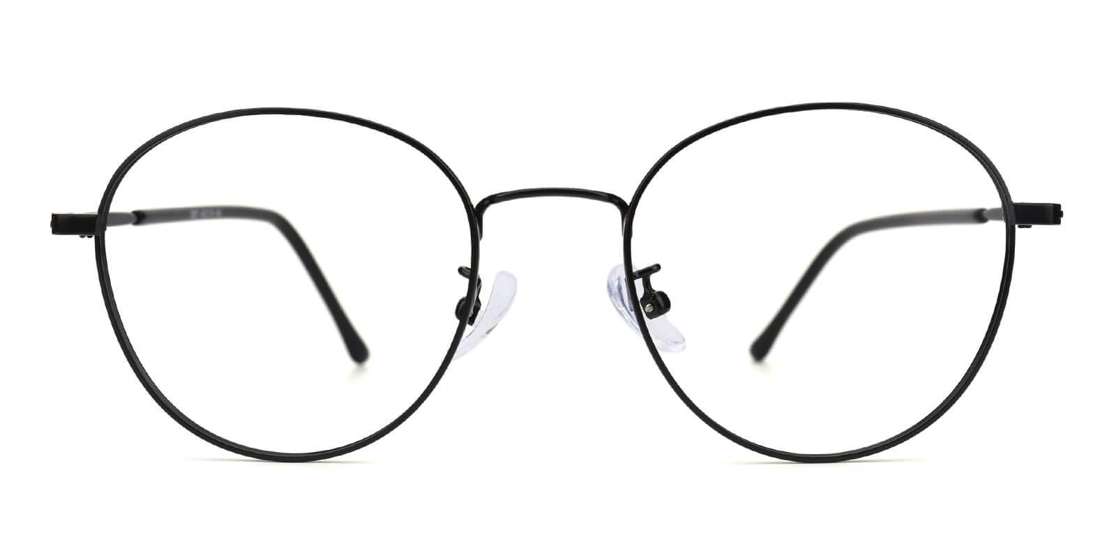 Devi-Black-Round-Metal-Eyeglasses-detail