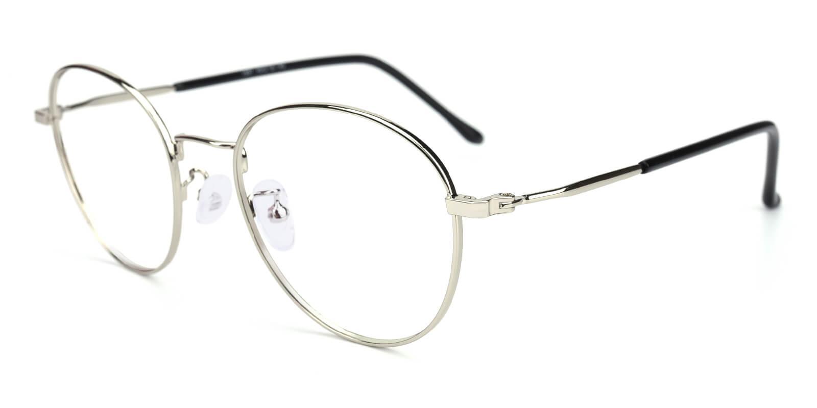 Devi-Silver-Oval-Metal-Eyeglasses-additional1