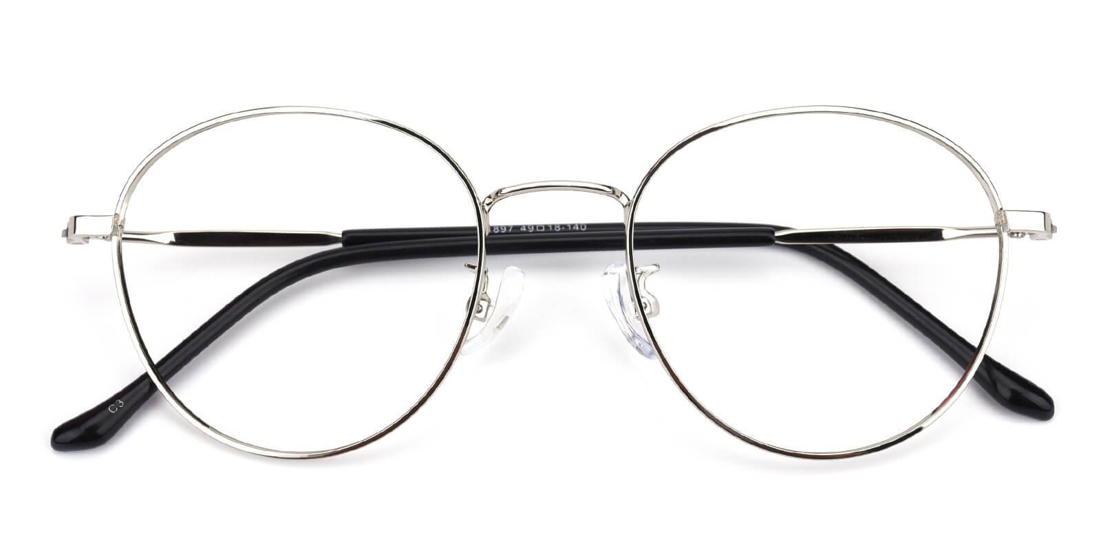 Devi-Silver-Oval-Metal-Eyeglasses-detail