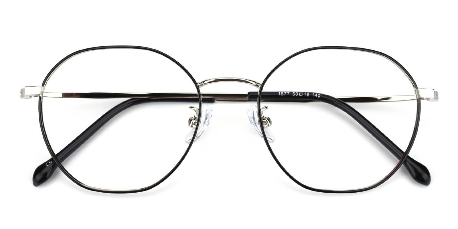 Govind-Black-Round-Metal-Eyeglasses-detail