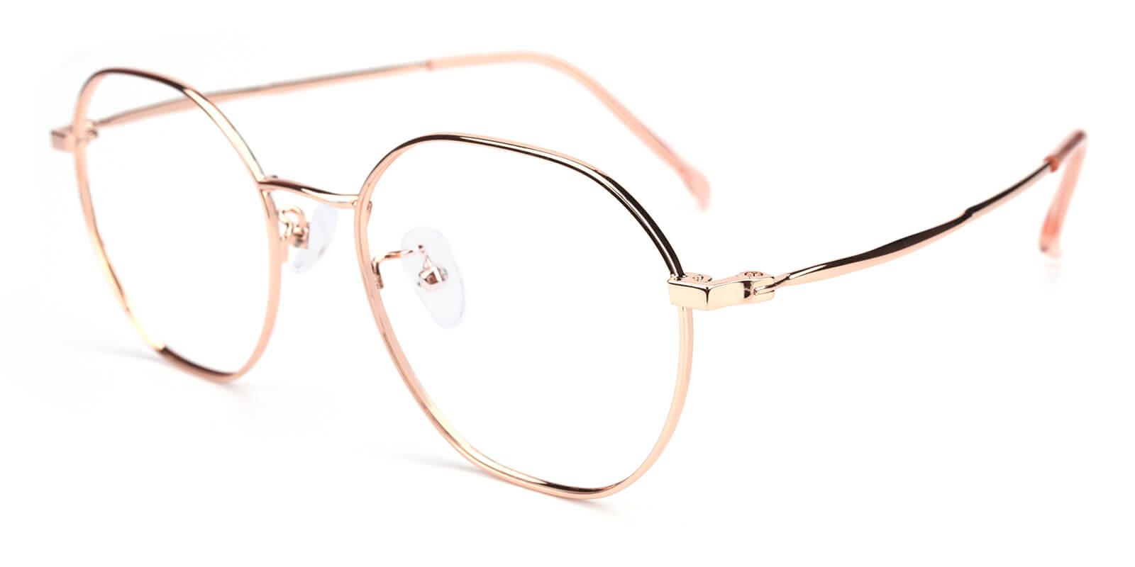 Govind-Pink-Round-Metal-Eyeglasses-detail