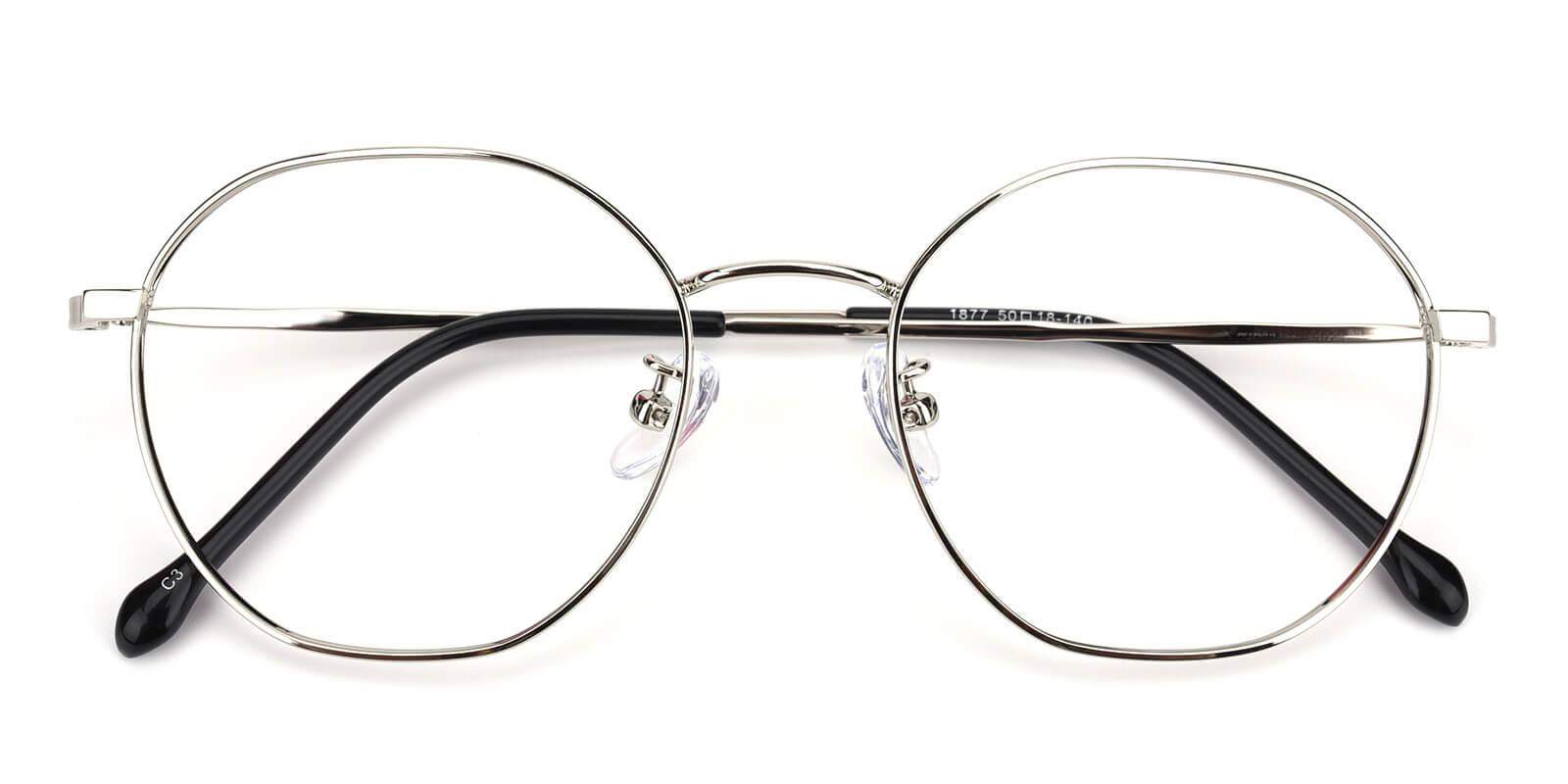Govind-Silver-Round-Metal-Eyeglasses-detail
