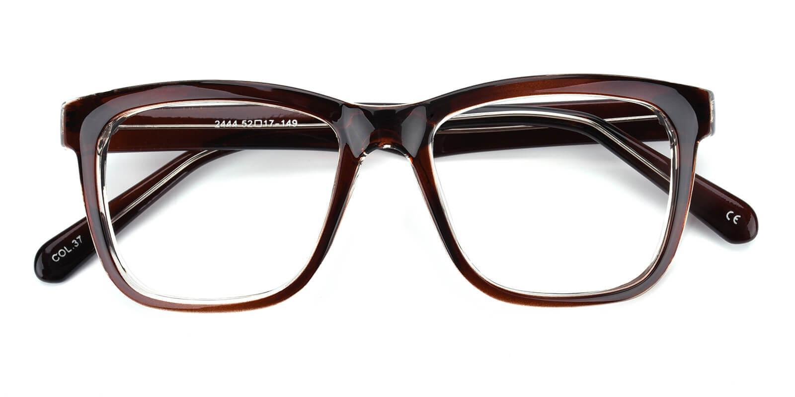 Colaan-Brown-Square-Plastic-Eyeglasses-detail