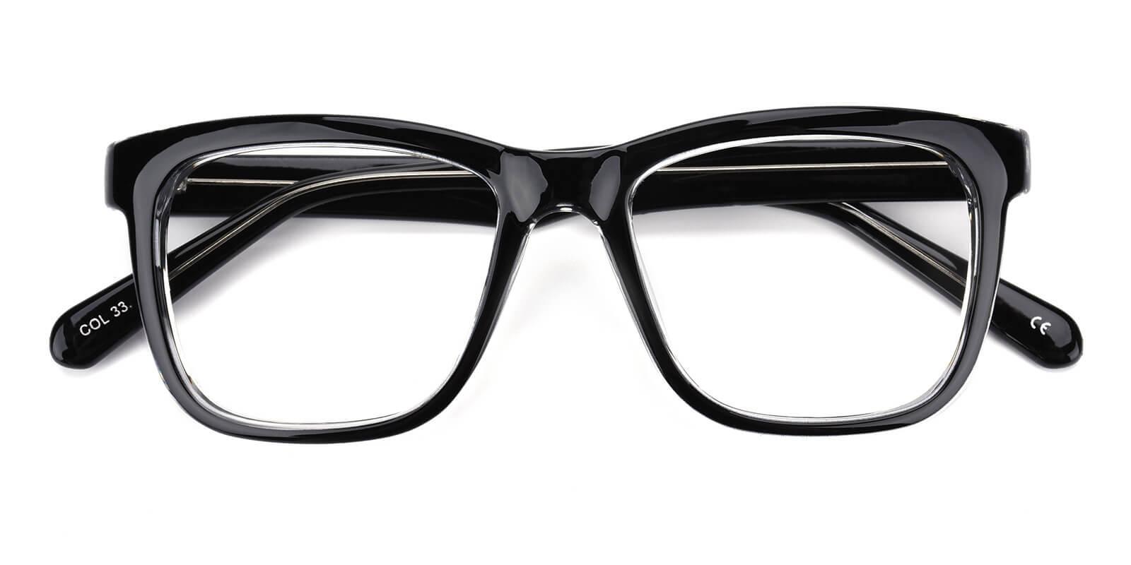 Colaan-Translucent-Square-Plastic-Eyeglasses-detail
