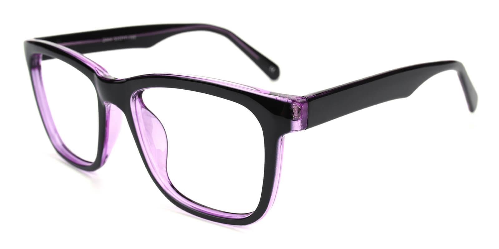 Colaan-Purple-Square-Plastic-Eyeglasses-additional1