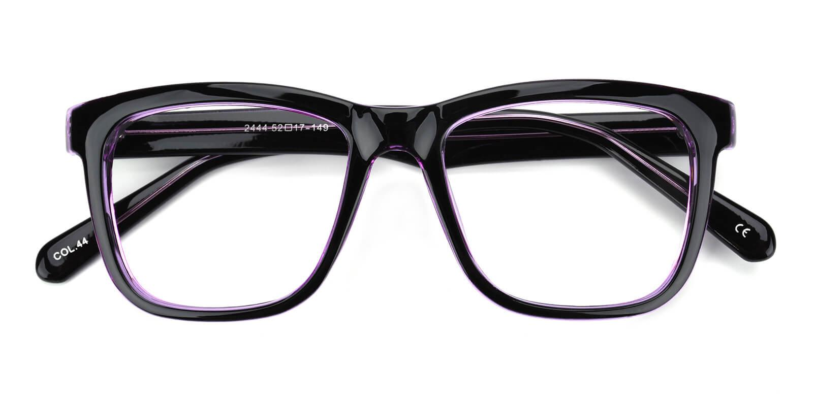 Colaan-Purple-Square-Plastic-Eyeglasses-detail