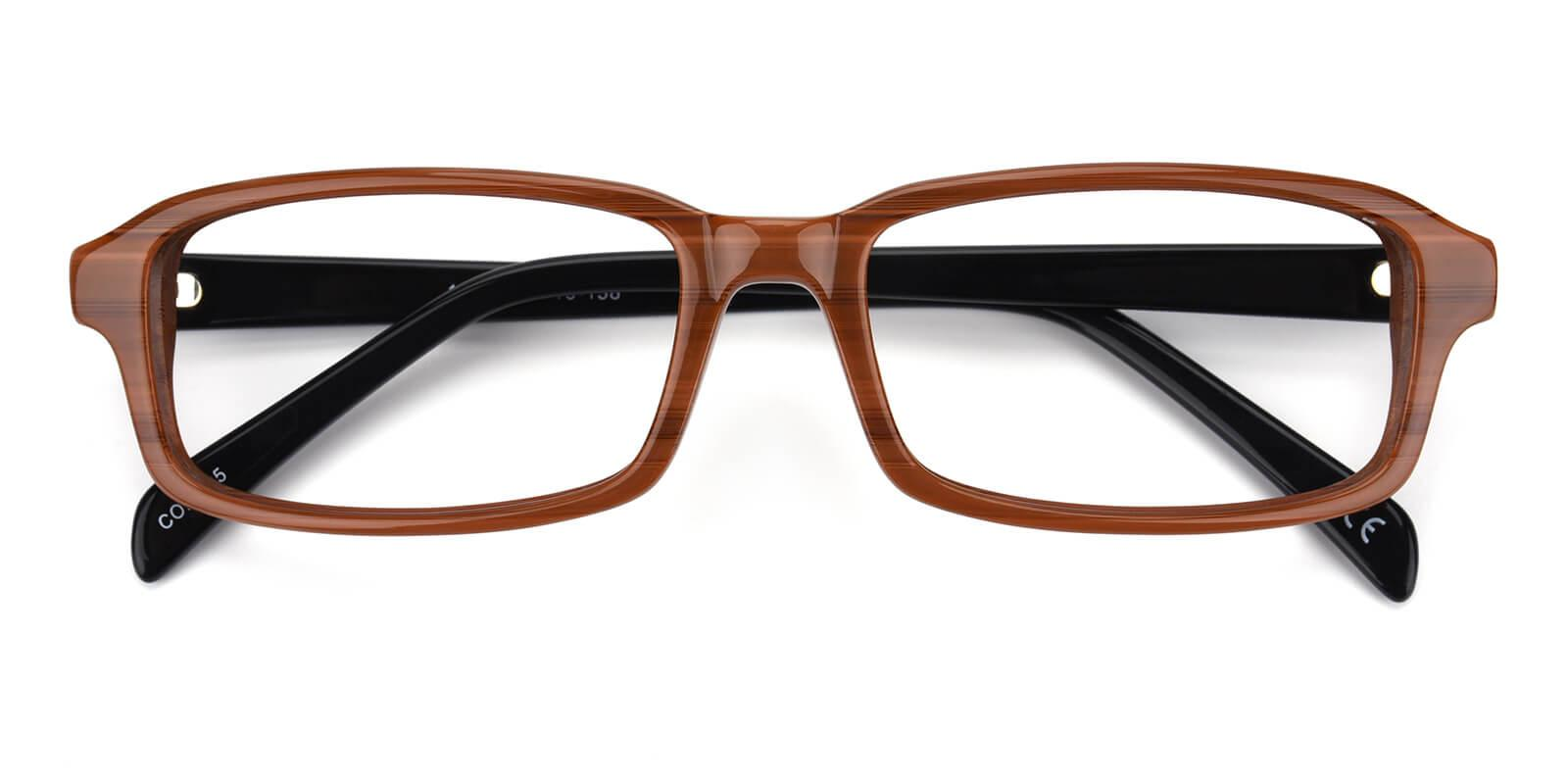 Amber-Brown-Rectangle-Acetate-Eyeglasses-detail